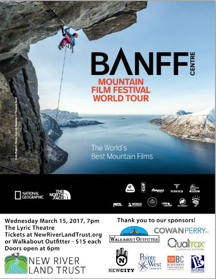 Image of poster for Banff film festival.